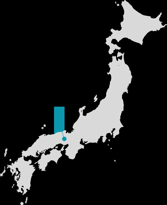 播州織の産地地図